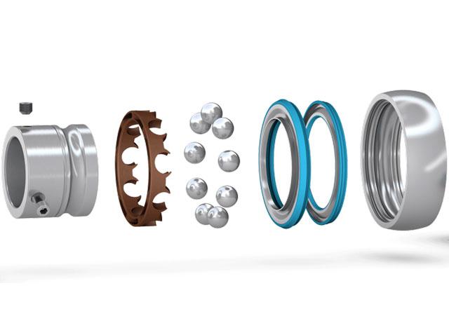stainless steel or zinc coated insert bearings