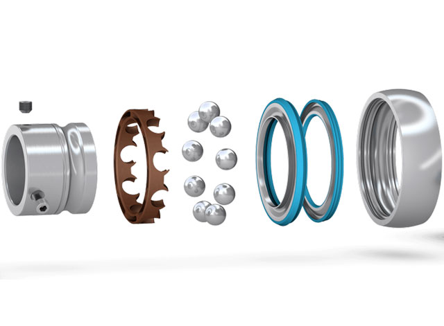 stainless steel or zinc coated insert bearings