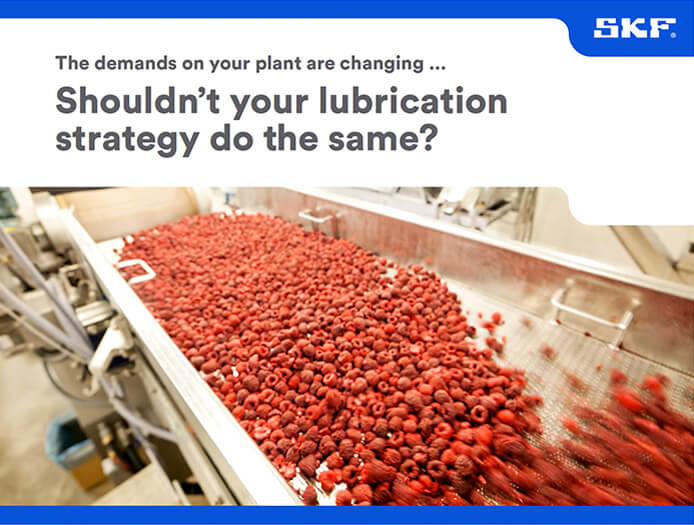 SKF Lubrication re-greasing food and beverage industry
